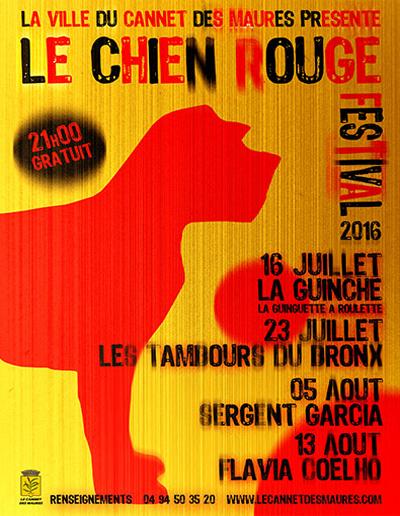 Festival Le Chien Rouge - Edition 2016 - Affiche officielle